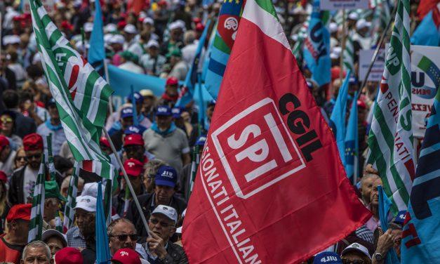 Roma 16 Novembre 2019 – Circo Massimo – Grande manifestazione unitaria dei pensionati
