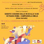 """Continua la campagna d'ascolto """"LA CITTA' CON GLI OCCHI DELLE DONNE"""" – Campagnola sabato 5 giugno, dalle 9.30 alle 12, piazza Roma, zona mercato"""