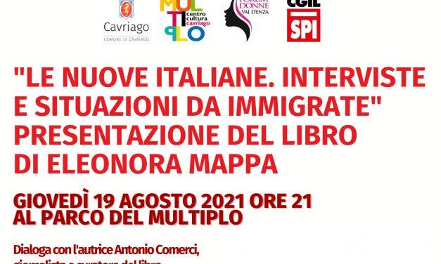 """Cavriago Giovedì 19 agosto ore 21 – Parco multiplo Presentazione del libro """"Le nuove italiane"""""""