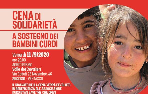 Leghe SPI del Ventasso – Cena di solidarietà a sostegno dei bambini curdi – 11 settembre 2020 – Succiso – Agriturismo Valle dei Cavalieri