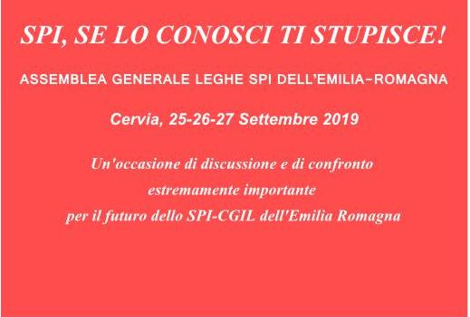 Annunciata l'assemblea generale delle leghe dello SPI-CGIL dell'Emilia Romagna