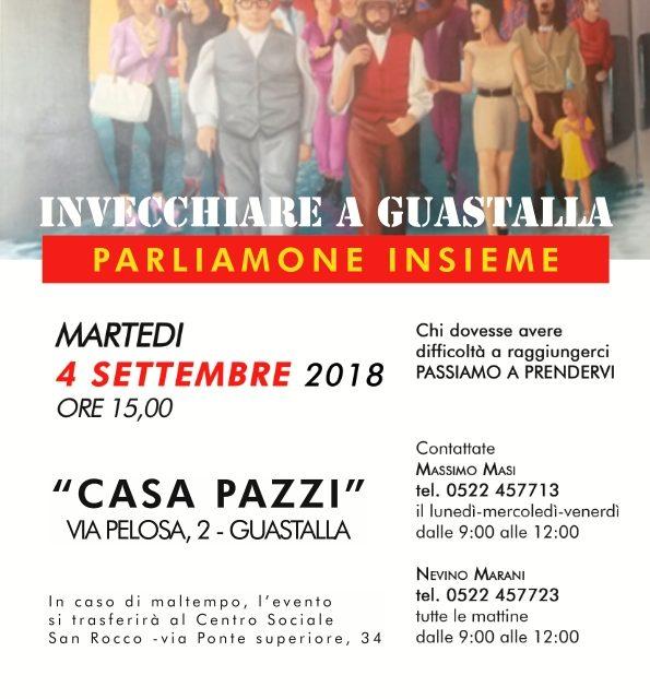 Interessante iniziativa a Guastalla proposta dalla Lega SPI – Invecchiare a Guastalla – 4 settembre 2018