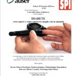Importante iniziativa a Rubiera – Sabato 18 gennaio ore 15.30 – Sala riunioni – Casa della Salute – Via De Gasperi, 1 – Il diabete cosa sapere e come convivere meglio con la malattia