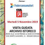 Lo SPI-CGIL e la conservazione della memoria: martedì 5 novembre 2019 – Visita guidata a Istoreco