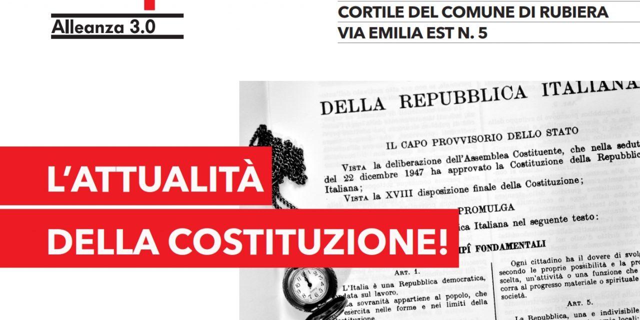 Attualità della Costituzione: iniziativa il 2 giugno a Rubiera per la festa della Repubblica