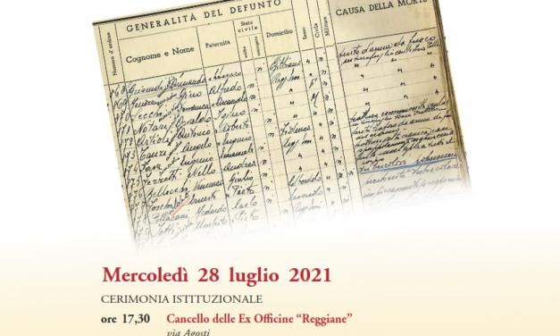 Per non dimenticare: 28 luglio 1943 – 28 luglio 2021 Celebrazioni per l'anniversario dell'eccidio delle Reggiane