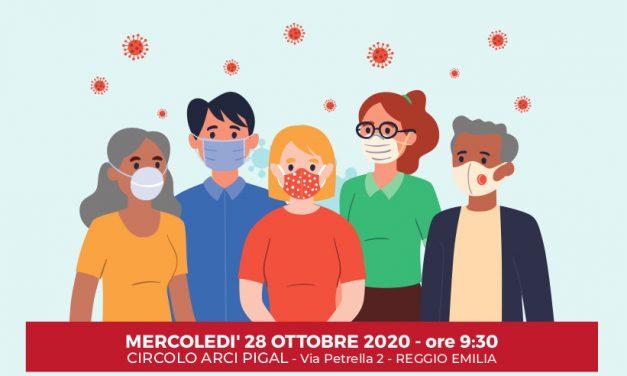 Emergenza Covid19: socialità in sicurezza ai tempi del corona virus – Centro Sociale Pigal – Via Petrella, 2 – Reggio Emilia