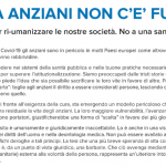Senza anziani non c'é futuro! Lo SPI-CGIL aderisce all'appello lanciato dalla Comunità di Sant'Egidio!