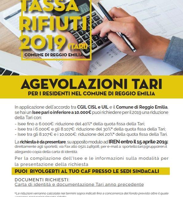 Importante accordo sulla tariffa TARI col comune di Reggio Emilia – Il Verbale dell'accordo e il volantino