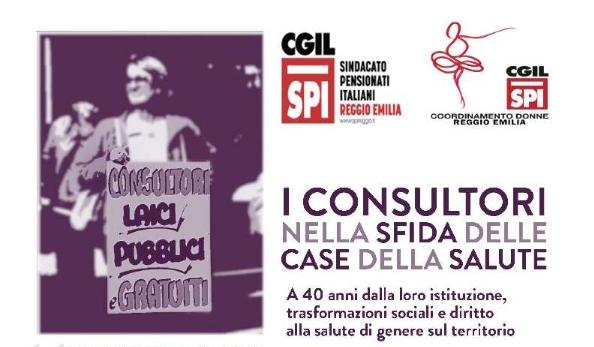 A 40 anni dall'istituzione dei consultori: giovedì 17 aprile 2018 – ore 9.30 – Sala Di Vittorio – Camera del Lavoro – Reggio Emilia