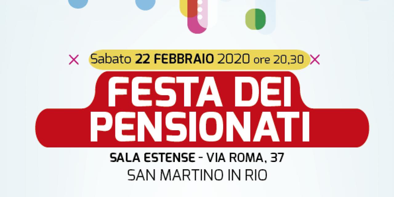 Festa dei pensionati a San Martino in Rio – Sabato 22 febbraio – Sala Estense