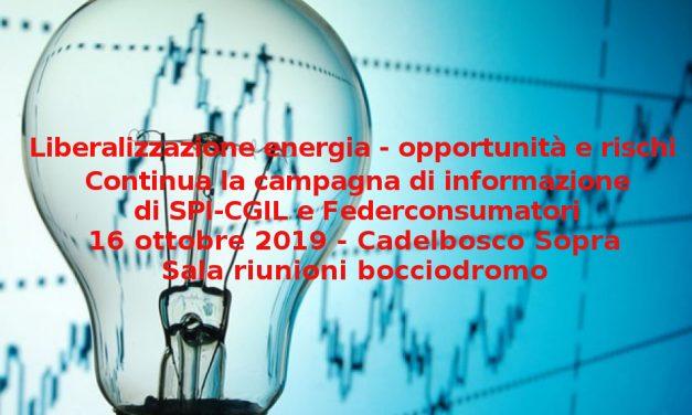 ENERGIA, TRUFFE E LIBERALIZZAZIONI – SPI E FEDERCONSUMATORI INFORMANO PENSIONATI E CITTADINI