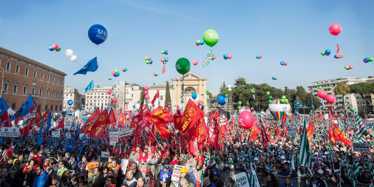 Grande successo della manifestazione unitaria di Roma – Il 9 febbraio lavoratori e pensionati hanno inviato un segnale chiarissimo al governo giallo verde: quel che sta facendo non va bene!