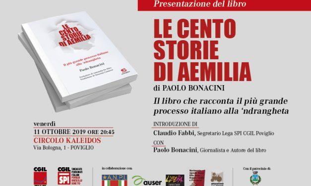 Venerdì 11 ottobre 2019 – Le cento storie di aemilia – Presentazione del libro di Paolo Bonacini – Poviglio – Circolo Kaleidos